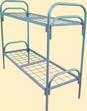 Кровать металлическая с полукруглыми спинками , металлическая одноярусн